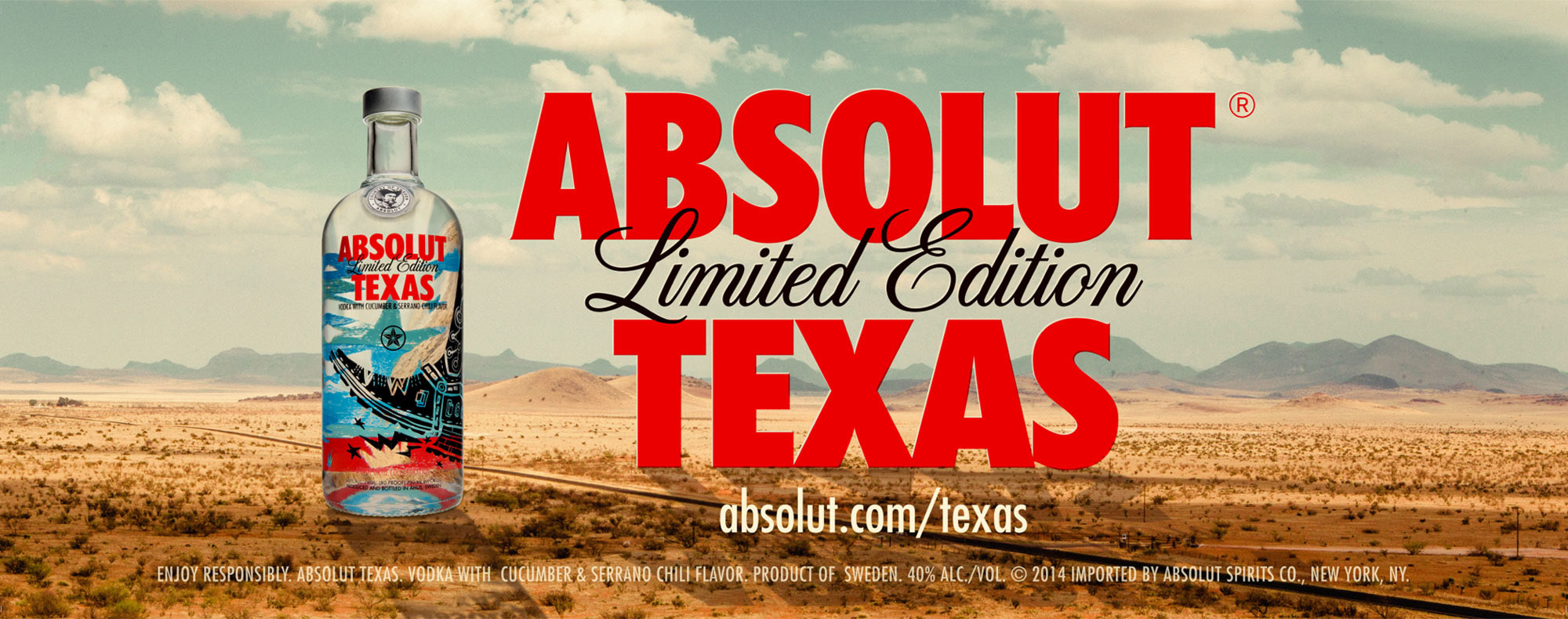 Absolut Texas Advertisment